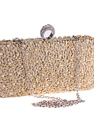 cheap -Women's Bags Polyester Alloy Evening Bag Crystals Beading Sequin Pearl Glitter Shine Party Wedding Evening Bag Wedding Bags 2021 Champagne Black