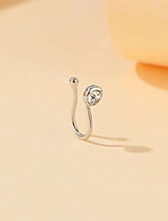 cheap -Nose Ring / Nose Stud / Nose Piercing Fashion Vintage Classic Women's Body Jewelry For Street Holiday Geometrical Rhinestone Alloy Wedding Silver