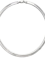 cheap -925 sterling silver 8mm italian solid flat omega chain necklace for women and girls - made in italy comes with gift box (19)