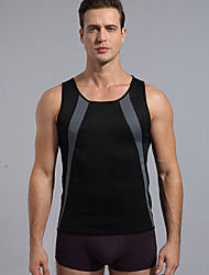 cheap -Hot Sweat Workout Tank Top Slimming Vest Sports Spandex Lycra Polyster Yoga Fitness Gym Workout Stretchy Hot Sweat For Men