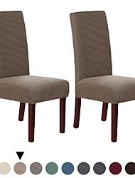 cheap -Dinning Chair Cover Stretch Chair Seat Slipcover Soft Plain Solid Color Durable Washable Furniture Protector For Dinning Room Party