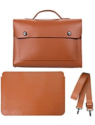 cheap -13.3 Inch Laptop / 14 Inch Laptop Briefcase Handbags PU Leather / Polyurethane Leather Solid Color / Leather for Men for Women for Business Office Waterpoof