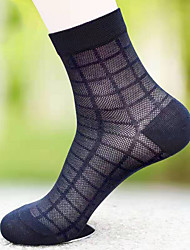 cheap -Men's Socks Solid Colored Socks Warm Casual Multi color 5 Pairs