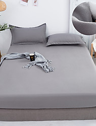 cheap -Modern Simple Style Solid Solor Bed Sheet Fitted Sheet Elastic Band Fixed Antifouling Anti-crease Portable Sheets Cover for Bed