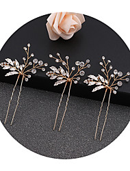 cheap -bridal alloy geometric hairpin wholesale korean electroplated hairpin women's wedding diamond hairpin direct sales
