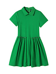 cheap -girls short sleeve polo dress, ruby, 4t us