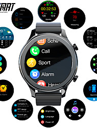 cheap -TIME 4G LTE Cellular Smart Watch Fitness Tracker Bluetooth Pedometer Activity Tracker Sleep Tracker Long Standby Hands-Free Calls Media Control IP 67 45mm Watch Case for Android iOS Men Women