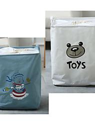cheap -Buggy Bag Waterproof Storage Bag Household Dirty Laundry Basket Folding Clothing Storage Bucke 43*32*55CM