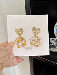 cheap -s925 silver needle korean temperament simple hollow love gold leaf earrings female high-end trendy earrings earrings b340