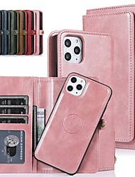 cheap -Phone Case For Apple Full Body Case Leather Wallet Card iPhone 13 iPhone 12 Pro Max 11 SE 2020 X XR XS Max 8 7 6 iPhone 13 Pro Max iPhone 13 Mini iPhone 13 Pro Card Holder Shockproof Dustproof Solid