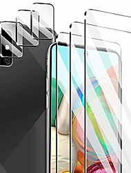 cheap -[6 pack] 3 pack screen protector for samsung galaxy a71 4g/5g + 3 pack camera lens protector for samsung galaxy a71 4g/5g tempered glass hd clear [anti-scratch] [case friendly] [bubble free]