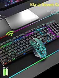 cheap -Wireless Recharging Keyboard and Mouse Set Protable LED Backlit Keyboard 2400DPI Mouse Gamer Kit For Laptop Desktop Computer
