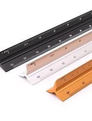 cheap -Aluminum Alloy Triangular Scale Ruler Drawing Tools Architectural Scale Ruler 1 201 251 501 751 1001 125 Drawing Scale