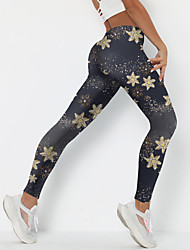cheap -Women's Sporty Fashion Comfort Leggings Skinny Leisure Sports Weekend Pants Galaxy Star Ankle-Length Sporty Elastic Waist Print Black