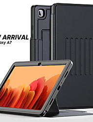 cheap -Case For Samsung Tablet Full Body Case Samsung Tab A 10.1(2019)T510 Samsung Tab A 8.0(2019)T290/295 Card Holder Shockproof Dustproof Solid Colored PU Leather Genuine Leather TPU