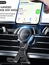 cheap -Phone Holder Stand Mount Car Air Vent Outlet Grille Car Holder Buckle Type Gravity Type Aluminum Alloy Phone Accessory iPhone 12 11 Pro Xs Xs Max Xr X 8 Samsung Glaxy S21 S20 Note20