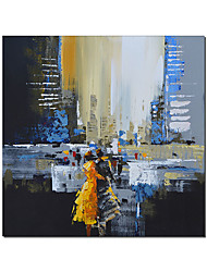 cheap -Oil Painting Handmade Hand Painted Wall Art Square Landscape Abstract Bedroom Decoration Paintings Home Decoration Decor Stretched Frame Ready to Hang