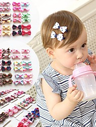 cheap -10Pcs Children Baby Girls  'Ribbon Hair Bow Mini Latch Clips Hair Clip Hairpin for Kids Girls Kids Hair Accessories