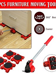 cheap -5Pcs/Set Furniture Mover Lifter Slider Professional Load Bearing For Heavy Furniture Transport Multi Direction Wheel Moving Tool