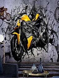 cheap -Mural Wallpaper Self-adhesive Art Wall Motorcycle Picture Canvas /vinyl Suitable For Living Room Party Holiday Hotel Wall Decoration Art Home Decor