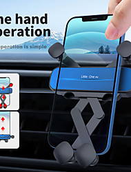cheap -Phone Holder Stand Mount Car Air Vent Outlet Grille Car Holder Phone Holder Gravity Type Adjustable 360°Rotation Silicone Aluminum Alloy ABS Phone Accessory iPhone 12 11 Pro Xs Xs Max Xr X 8 Samsung