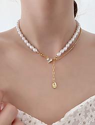 cheap -shining love zircon pearl necklace female niche design sense pearl chain clavicle chain young fashion necklace female