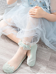 cheap -Summer New Style Lace Girls Lace Socks Breathable Mesh Lace Socks Female Baby Lace Dance Socks Crystal Stockings