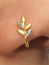 cheap -Nose Ring / Nose Stud / Nose Piercing Stylish Simple Punk Unisex Body Jewelry For Street Masquerade Retro Rhinestone Alloy Heart Flower Gold 1 PC / Star
