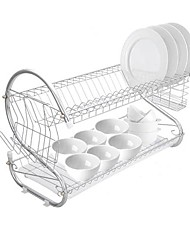 cheap -Dual Layers Bowls Dishes Chopsticks Spoons Collection Shelf Dish Drainer Furniture