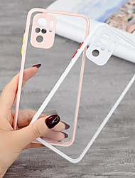 cheap -Clear Phone Case For Xiaomi Mi 11 Poco X3 Poco M3 Redmi K40 Pro Redmi Note 10 Pro Max Note 9 Pro Max Note 9S Redmi 9A 9C Camera Lens Protection Shockproof Protective Back Cover