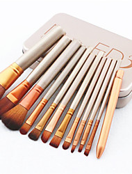 cheap -Nk3 Generation Portable 12 Iron Box Makeup Brush Set 12 Makeup Brushes