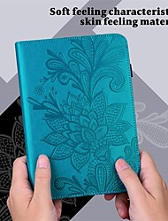 cheap -Case For Huawei Tablets Full Body Case Huawei Mediapad T5 10 Huawei Mediapad M5 Lite 10 Huawei MediaPad T3 10(AGS-W09, AGS-L09, AGS-L03) Wallet Card Holder Shockproof Solid Colored Flower PU Leather