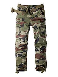 cheap -Men's Work Pants Hiking Cargo Pants Tactical Pants 8 Pockets Drawstring Military Camo Winter Outdoor Regular Fit Ripstop Anatomic Design Front Zipper Multi Pockets Cotton Pants / Trousers Bottoms