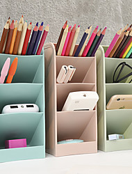 cheap -Plastic Storage Shelf Book Stand Desktop Document Letter Tray Wall File Holder Pen&Pencil Holder Mesh Office Desk File Organizer Office Supplies 1 pcs