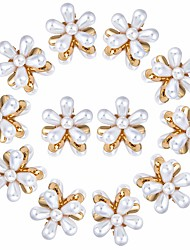 cheap -12PCS Mini Pearl Claw Clip Retro Hair Clips with Daisy Flower Sweet Artificial Bangs Clips Decorative Hair Accessories for Women Girls