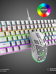 cheap -T60 USB Wired Mouse Keyboard Combo Gaming Mechanical Keyboard / Gaming Keyboard / Multimedia Keyboard Gaming Gaming Mouse 6400 dpi