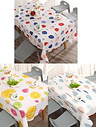 cheap -Table Cloth Water Resistant Country Patterned Table Cover PVC Table Decorations for Kitchen Dining 140*180 cm