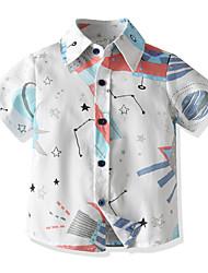 cheap -dress shirts for toddler boys cartoon printing summer spaceships white 4t