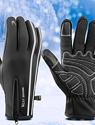 cheap -Winter Bike Gloves / Cycling Gloves Touch Gloves Reflective Warm Wearable Breathable Full Finger Gloves Sports Gloves Black for Adults' Outdoor Exercise Cycling / Bike