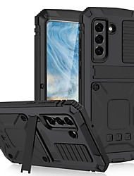 cheap -Phone Case For Samsung Galaxy Full Body Case S21 FE 5G Shockproof Dustproof Solid Colored Silicone Metal