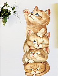 cheap -Wall stickers super cute cat cartoon children's room dormitory bedside stickers self-adhesive wall ins decoration climbing ladder