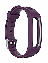 cheap -adjustable sports silicone wrist strap for huawei band 4e 3e honor band 4 running replacement watch band bracelet soft strap (band color : purple)