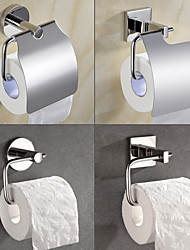 cheap -Wall Mounted Stainless Steel Mirror Polished Toilet Paper Holder, 4-Type New Design Creative Contemporary Low-carbon Steel Metal 1pc Bathroom Decor