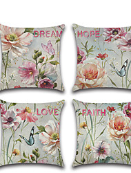 cheap -Floral Double Side Cushion Cover 1PC Soft Decorative Square Throw Pillow Cover Cushion Case Pillowcase for Bedroom Livingroom Superior Quality Machine Washable Outdoor Cushion for Sofa Couch Bed Chair