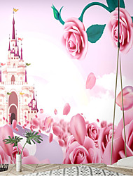 cheap -Mural Wallpaper Wall Sticker Floral Art Deco Self-adhesive Cartoon Fantasy Castle Figure Canvas /vinyl Suitable For Living Room Party Holiday Children's Room Wall Decoration Art Home Decor
