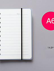 cheap -A5 New Flip-up Coil notebook back to school office Diary Words Book Writing Pads Cute Memo Pad Simple Fresh Carry Notepad 1pcs