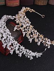 cheap -FORSEVEN Luxury Handmade Rhinestone Crystal Crown Tiaras Bridal Headbands Women Wedding Hair Jewelry Accessories JL