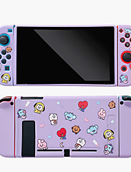 cheap -Cute Cartoon Switch Protective Shell NS Joycon Controller TPU Protection Case Game Handle Cover For Nintendo Switch Accessories