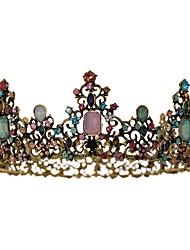 cheap -Bridal Wedding Hair Accessories Crowns Fashion Baroque Rhinestone Tiaras Elegant Gown Jewelry Headdress Gifts For Girls
