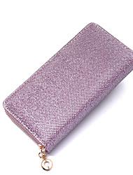 cheap -Women's Bags PU Leather Mobile Phone Bag Glitter Zipper Sparkling Glitter Daily Outdoor 2021 Dark Brown Blushing Pink Black